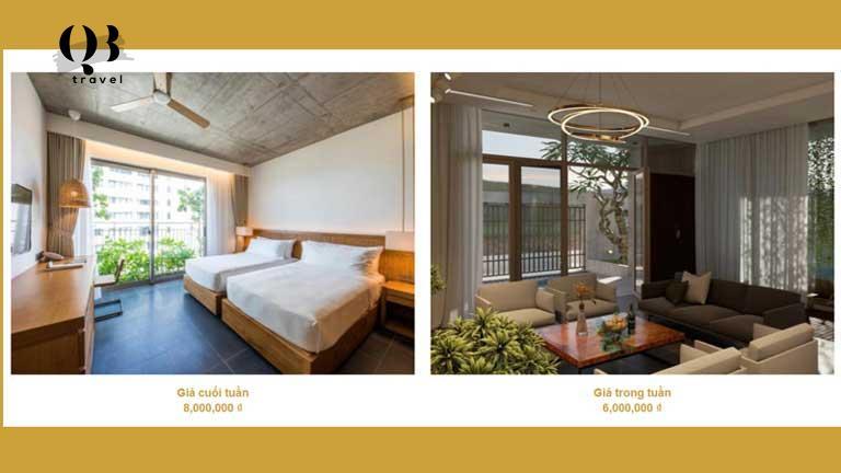 Một số kiểu phòng và mức giá tại Vyanh Villa Quảng Bình bạn có thể tham khảo