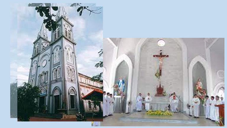 Nhà thờ Tân Phong Quảng Bình với lối kiến trúc cổ Châu Âu