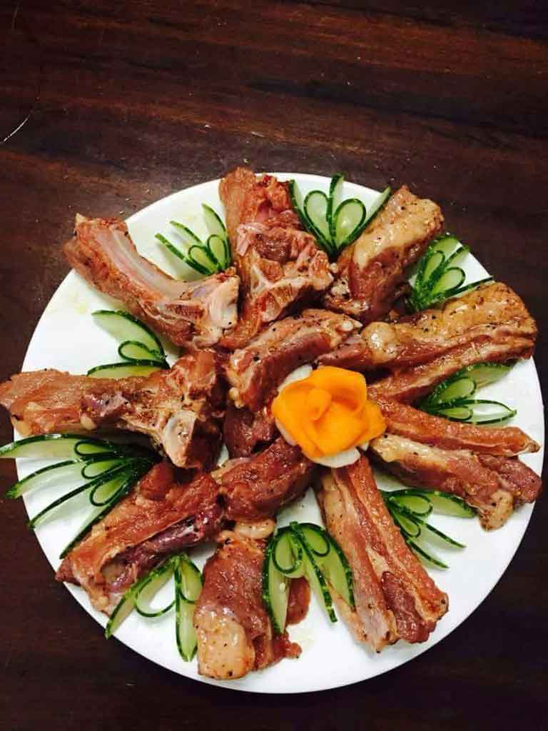 Hương vị thơm ngon của các món nướng được phục vụ tại quán