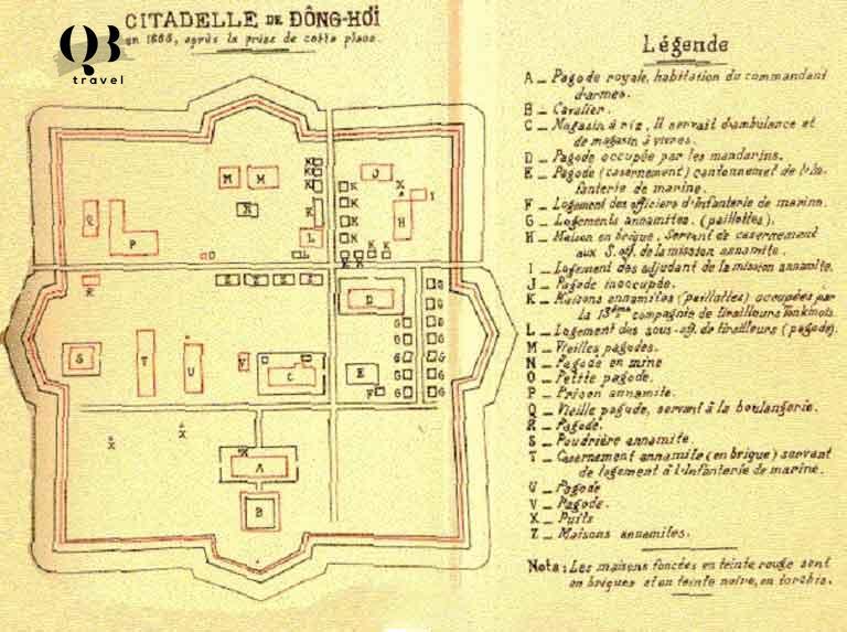 Bản đồ xây dựng thành cổ Đồng Hới
