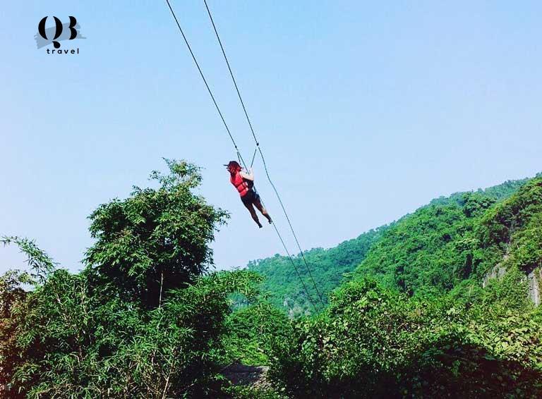 Trải nghiệm thú vị khi chơi trượt Zipline