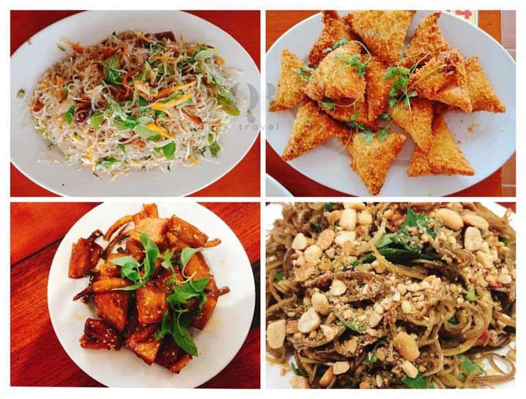 Các món chay đậm vị và phong phú tại ẩm thực chay An Lạc