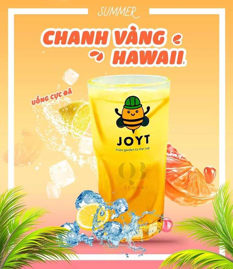 Trà chanh vàng là best seller tại JoyT