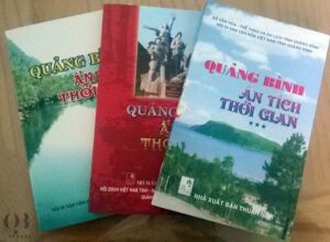 """Bộ sách gồm 3 cuốn """"Quảng Bình ẩn tích thời gian"""""""