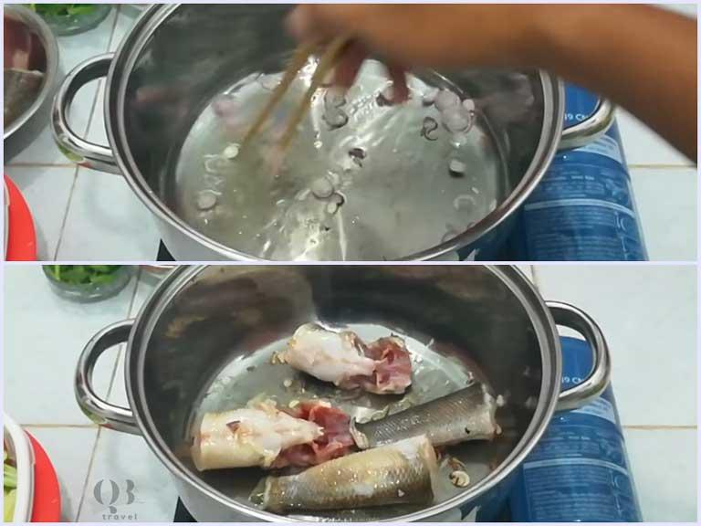 Chiên sơ cá để cá không bị tanh và có mùi thơm