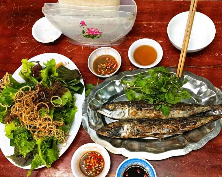 Thực đơn ăn trưa và ăn tối ở Quảng Bình rất đa dạng