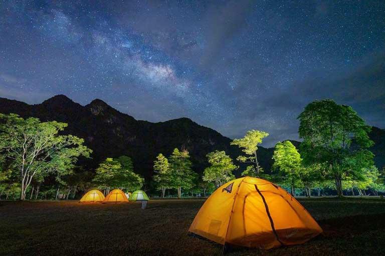 Trải nghiệm thú vị khi cắm trại