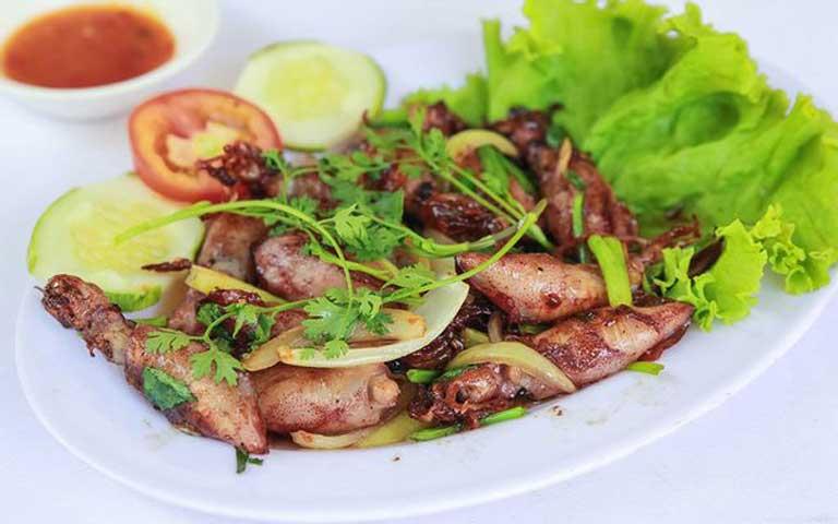 Món ăn đẹp mắt của quán nhậu Lương Chinh